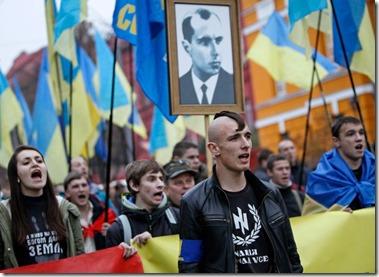 Nazi's met foto Stepan Bandera