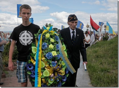 Svoboda - Herdenking gevallen SS strijders uit WO II - In Yaseniv 2013