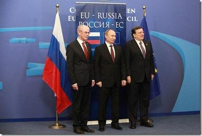 Vladimir Poetin met Manuel Barosso en Herman Van Rompuy - 2