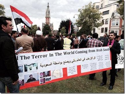 Betoging Brussel ambassade Saoedi Arabië - 21-06-2014 - 2