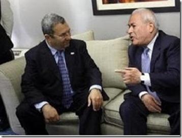 Burham Ghallioun en Ehud Barak
