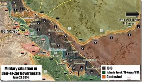 Deir er-Zor - Militaire situatie op 21 juni 2014