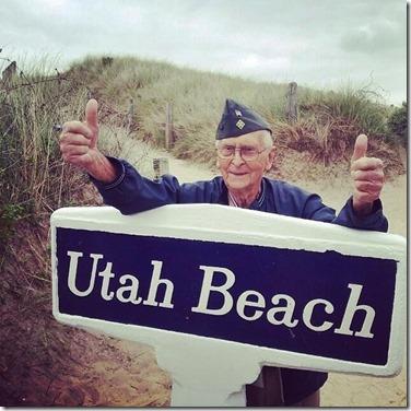 Herdenking Landing in Normandië - 6 juni 2014 - Amerikaanse veteraan Charles Wilson - Utah Beach