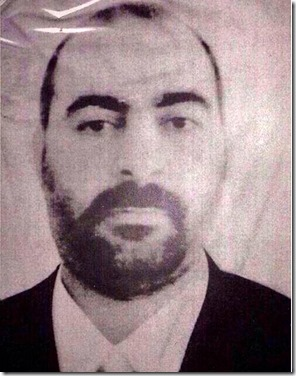 Ibraaheem 'Awwaad Ibraaheem 'Ali Al-Badri Al-Saamirraa`iy, alias Abu Bakr Al-Baghdaadi.