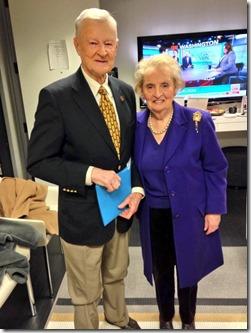 Madeleine Albright en Zbigniev Brzezinski