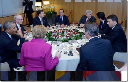 Manuel Barroso met G7 aan tafel