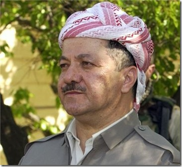 Massoed Barzani, President lokale Koerdische regering in Irak
