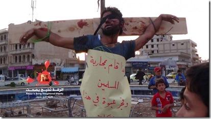 Rakka - Kruisiging door jihadisten