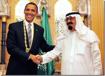 Barack Obama en Koning Abdoellah van Saoedi Arabië