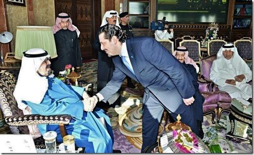 Saad Hariri en Koning Abdoelah van Saoedi Arabië