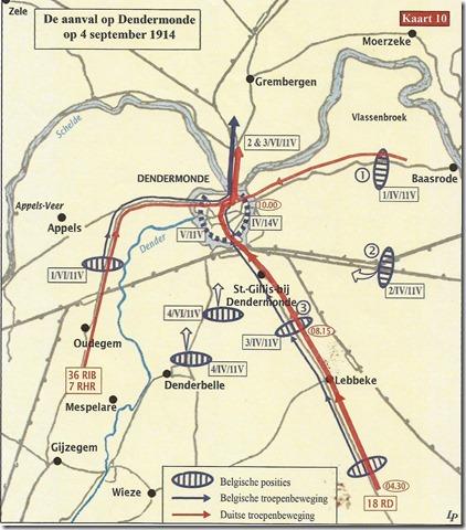 De aanval op Dendermonde van 4 september 1914
