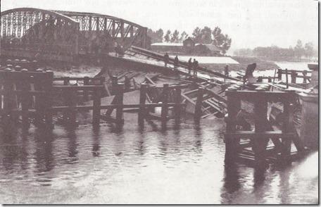 Dendermonde - Scheldebrug - Vernieling - Gezien vanuit Veerstra