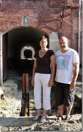 Dries Romanus en Veronique De Moor aan Fort Rozenbroek