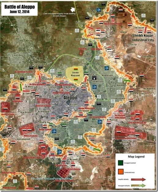 Aleppo - Noord-Oosten - Militaire situatie 12 juni 2014