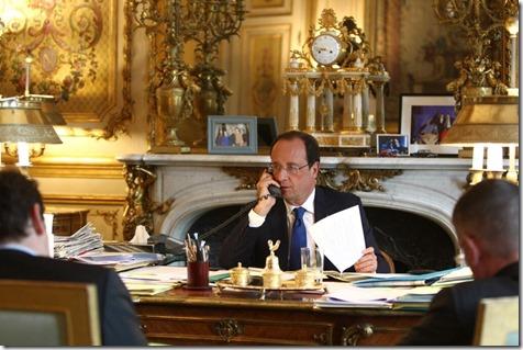 François Hollande telefonisch in gesprek met Barack Obama over Oekraïne en Irak