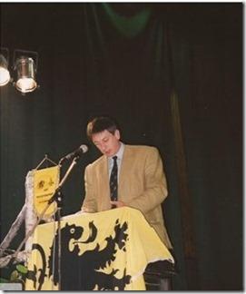 Jan Jambon bij het Sint-Maartensfonds 2001
