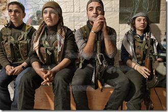 PYD-YPG Koerdische strijders
