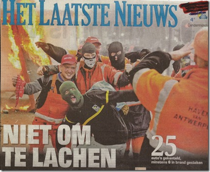 Vakbondsbetoging 6 november 2014 - Het Laatste Nieuws - Voorpag