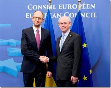 Herman Van Rompuy met Arseni Jatsenjoek, Premier van Oekraïne - 2
