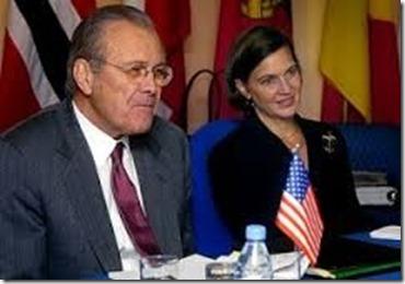 Victoria Nuland met Donald Rumsfeld