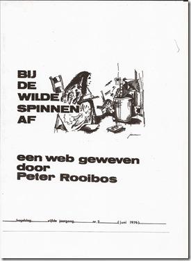Eddy Verhavert - Bij de wilde spinnen af - Poëziebundel Hagelsl