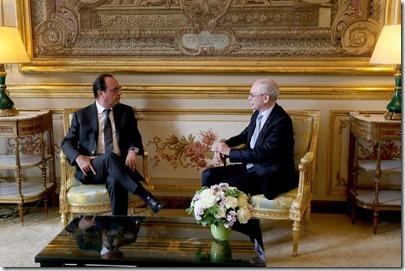 François Hollande en Herman Van Rompuy