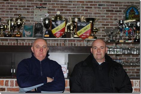 François Claes & Patrick De Smet (rechts) van Kaatsers V.A. Baasrode