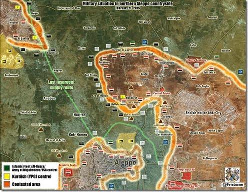 Aleppo - 20 - Militaire situatie 21 Februari 2015