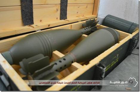 Jabhat al Nusra in legerbasis 46 - VS wapenstock Harakat Hazm - 1
