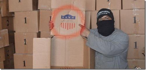 Jabhat al Nusra in legerbasis 46 - VS wapenstock Harakat Hazm
