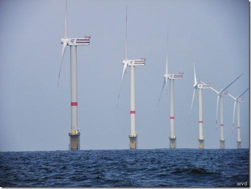 Windmolenpark op de Thorntonbank in de Noordzee