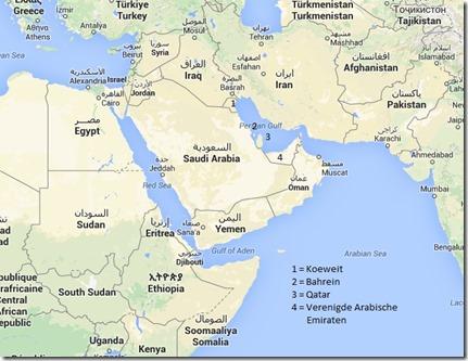 Kaart regio Jemen