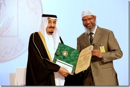 Koning Salman met televisieprediker Zakir Naik