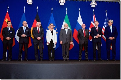Onderhandelaars verdrag over Iraanss uraniumverrijking - Lausanne - 2 april 2015
