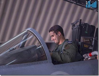 Prins Salman, zoon kroonprins in gevechtsvliegtuig - September 2014