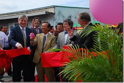 Steve Stevaert in Sihanoukville, Cambodja