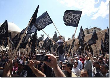 Hizb ut Tahrir in Beiroet, Libanon op 22 april 2011