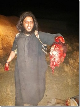 Jihadist met onthoofde kop