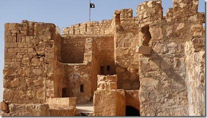 Palmyra met IS vlag - 24-05-2015