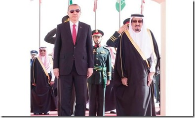 Koning Salman met Recep Tayyip Erdogan - maart 2015