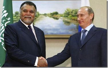 Prins Bandar bin Sultan en Vladimir Poetin