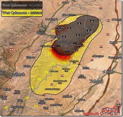 Qalamoen - Militaire toestand - 19 - Overzicht  - 8 mei - 15 juni 2015