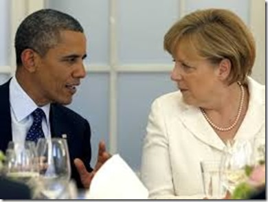 Angela Merkel en Barack Obama - 1