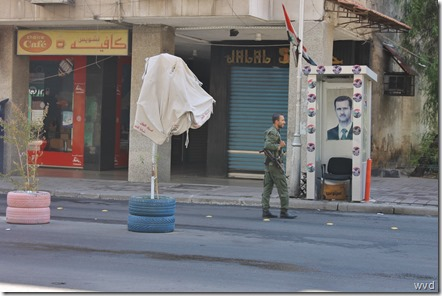 Damascus, militaire controlepost