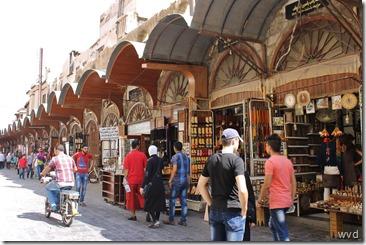 De deels overdekte eeuwenoude soek van Damascus