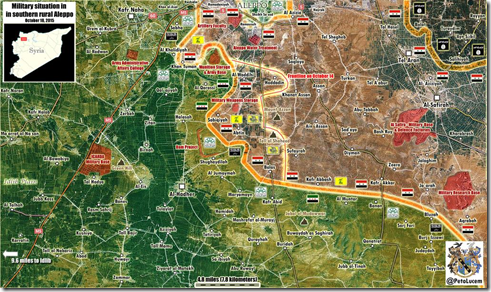 Aleppo - 30 - Zuid - Militaire situatie 18-10-2015
