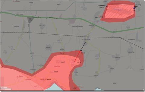 Aleppo - 32 - Oost - Militaire situatie 21 October 2015