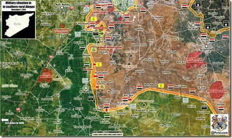 Aleppo - 38 - Zuid - Militaire situatie 01-11-2015
