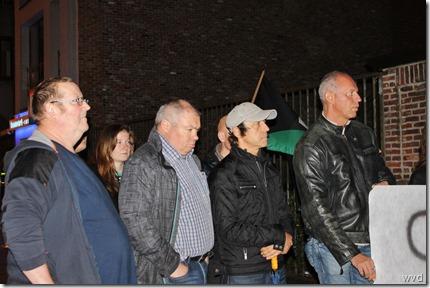 Pegida, betoging met Stefaan Van Gucht - Abdijschool - 6-10-2015