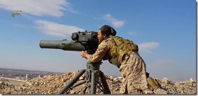 ISIS met TOW anti-tankraketten - Palmyra - Mei 2015